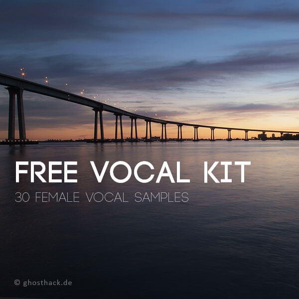 Free Vocal Kit - 30 Female Vocal Samples